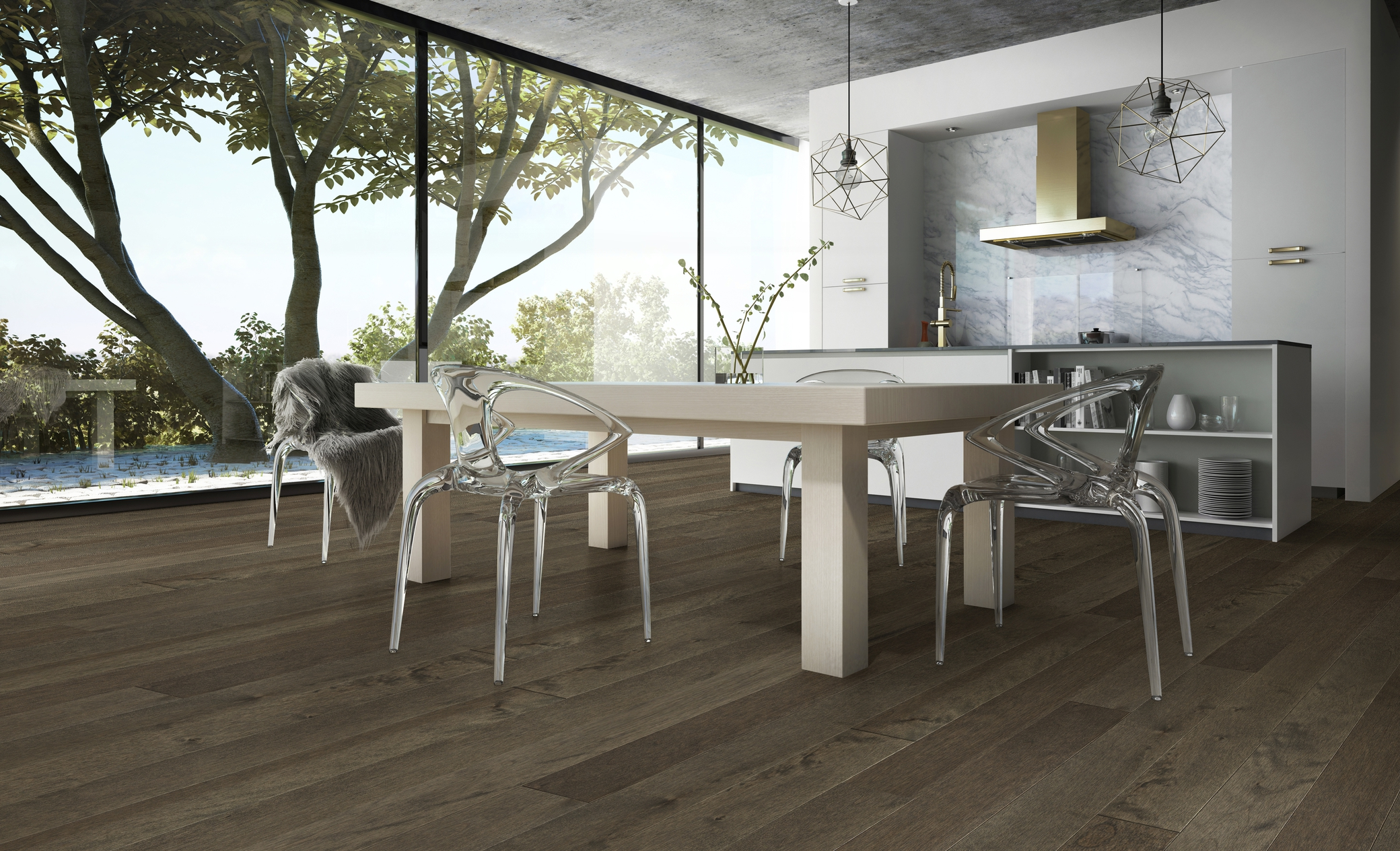Yellow Birch Concrete Grey